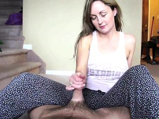 British milf Lady Sonia gives a pov handjob