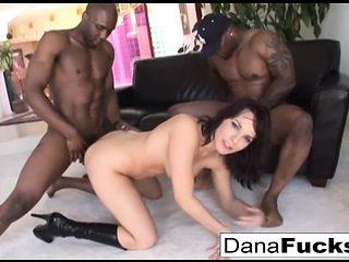 Dana gets her ass stuffed with a huge black cocks