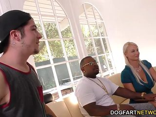 Dee Williams And London River Do BBC Anal In Front Of Step Son