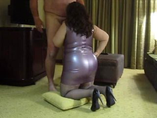 Purple Latex Dress, Blow Job