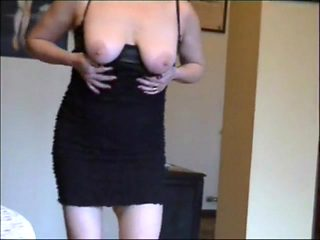 housewife in stockings at home