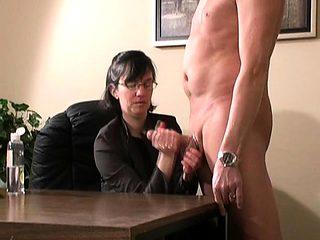 Cfnm femdom whores handjob