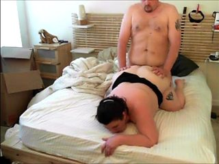 Chubby Couple Romp in Bed