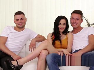 Bisexual lover fucks the couple like a real man