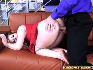 Fucking my stepdads cock right next to mom