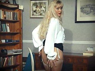 Erotic stranger - stocking blonde strip dance