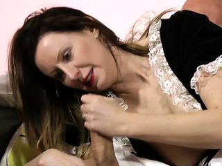 Mature french maid fucked