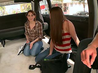 Todays bang bus episode has got twice the action because the guys managed to get two babes, Abby ...