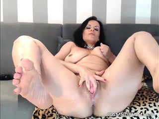 Perfect Milf Whore Masturbating Like Crazy