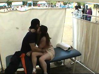 Amateur girls voyeur loving in public place