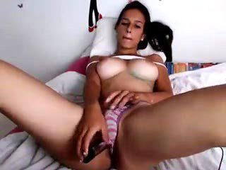 Giving herself multiple orgasms