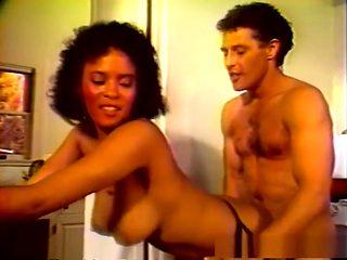 Fabulous pornstar in horny black and ebony, fishnet sex clip