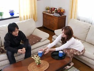 Cup of coffee with mature Japanese housewife Yumi Kazama leads to deep pussy licking
