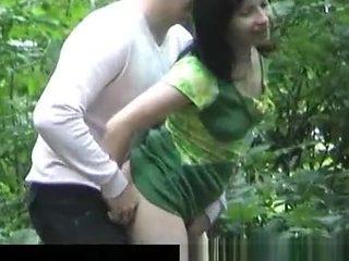 russian couple fucking in public park