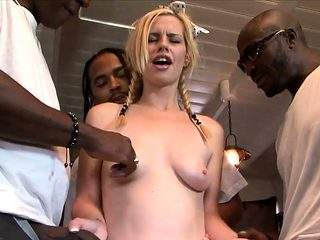 Cute blondie babe Tara Lynn Foxx gets pounded by BBC
