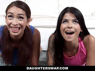 Daughterswap- Curvy Gamer Girl Fucked By Older Dad