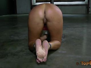 California blonde bound by mistress and abused by mistress