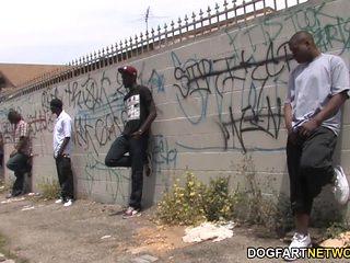 Larkin Love Interracial Gangbang