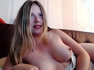 Cute Webcam Girl Playing