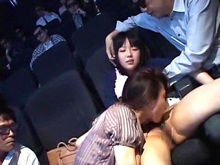 Fabulous Japanese whore Miharu Izawa, Akari Satsuki, Minako Uchida in Incredible Cunnilingus, Gro...
