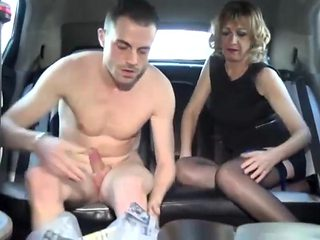 Sexy mature fuck in the car