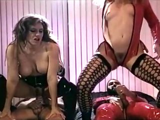Mardi Grais Party in a Bedroom with Fishnet, and Latex