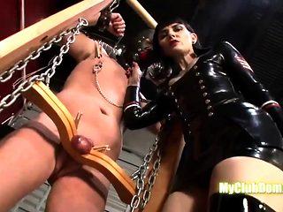 Mistress dominates his slave