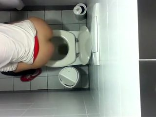 Aerial view of two hot women pissing