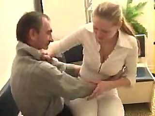 Drunk old guy fucks a young hot blonde