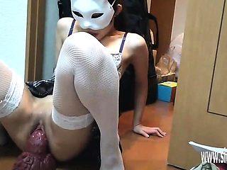 Broken Doll Misa XXL Bad Dragon dildo fuck