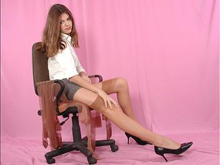 Lisa finds mom nylons and plays