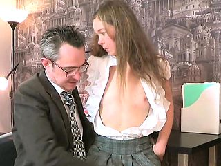 Lovely schoolgirl is seduced and penetrated by her senior te