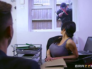 big breasted boss getting drilled