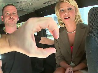 Dirty members of the bang bus meet beautiful business woman. She appears to be a pretty milf, who...