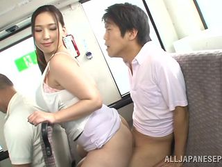 tall nippon slut feels horny in the bus