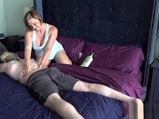 The Step Mom Son Massage Routine