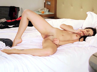 Perfect European beauty shows her sexy body to the cam