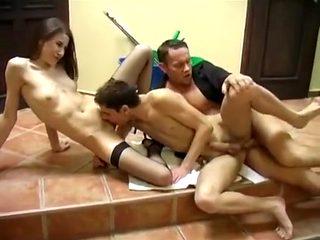 Crazy homemade Skinny, Stockings xxx video