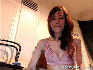 Beauty Tiny Tits Skinny Tease And Masturbate