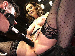 Cherry Torn & Artemis Faux in Cherry Torn's Tea Service And Slave Punishment - DivineBitches