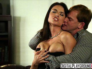 Dirty assistant Franceska Jaimes fucks her boss on his desk - Digital Playground