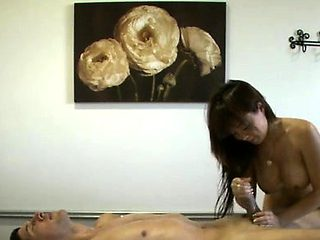 Sexy oriental likes giving her clients a little extra fun