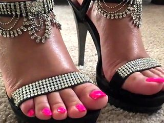 Ebony feet joi heels cum countdown.mp4