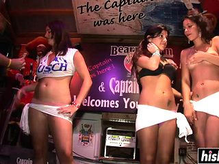 Party sluts love to show tits