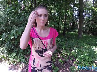 Public Agent Sexy Sporty Student Fucked In Public Field