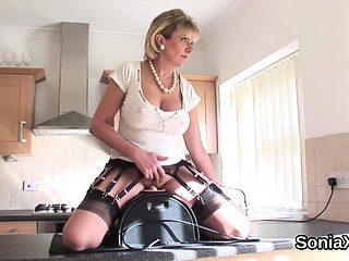 Unfaithful british mature lady sonia showcases her large mel