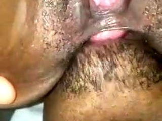 Ebony getting her ass ate
