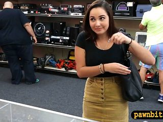 College Girl Gets Railed By Pawn Dude At The Pawnshop