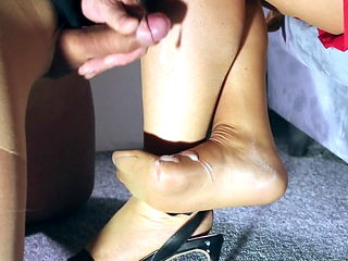 dirty foot sex with cum bdsm worship submission stockings