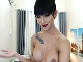 Ladyboy Cum in Hands